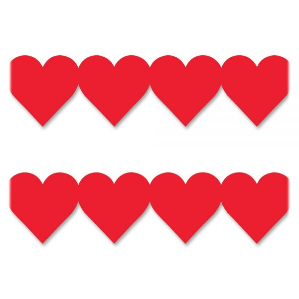 Hygloss Red Hearts Border