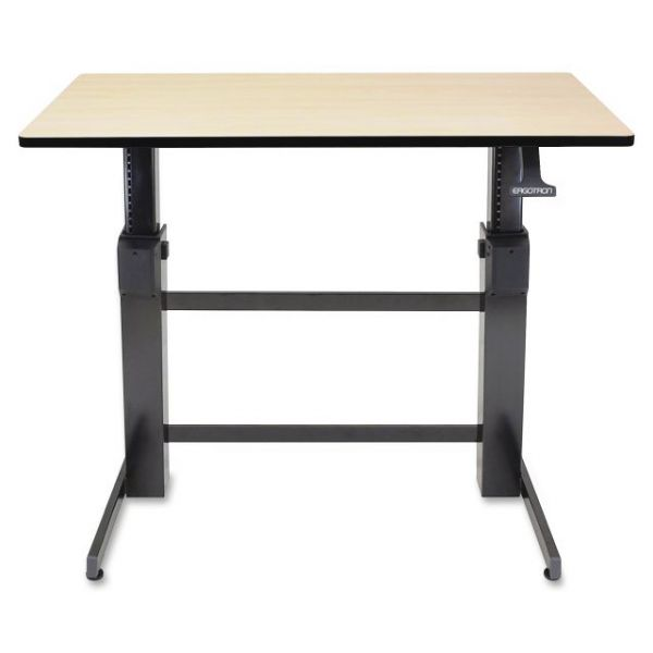 Ergotron WorkFit-D, Sit-Stand Desk (Birch Surface)