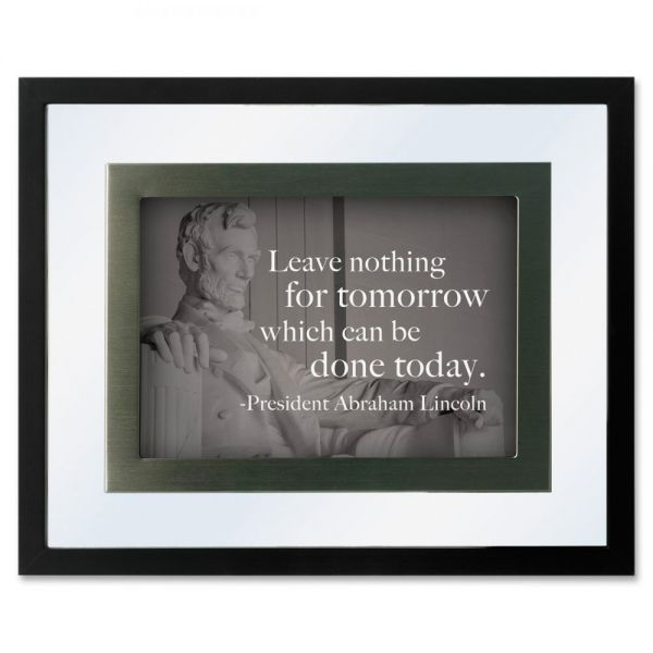 DAX President's Collection Floating Frame with Motivational Prints