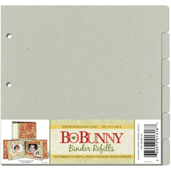 "Bo Bunny 3-Ring Bare Naked Binder Pages 9""X9"" 6/Pkg"