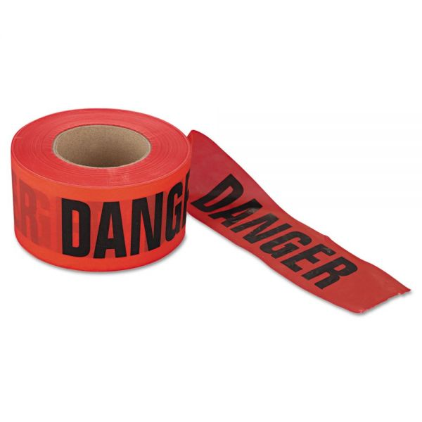 """Berry Plastics Danger Barrier Tape, 3 in x 1000ft, """"Danger Do Not Enter"""" Text"""