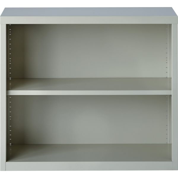 Lorell Fortress Series 2-Shelf Steel Bookcase