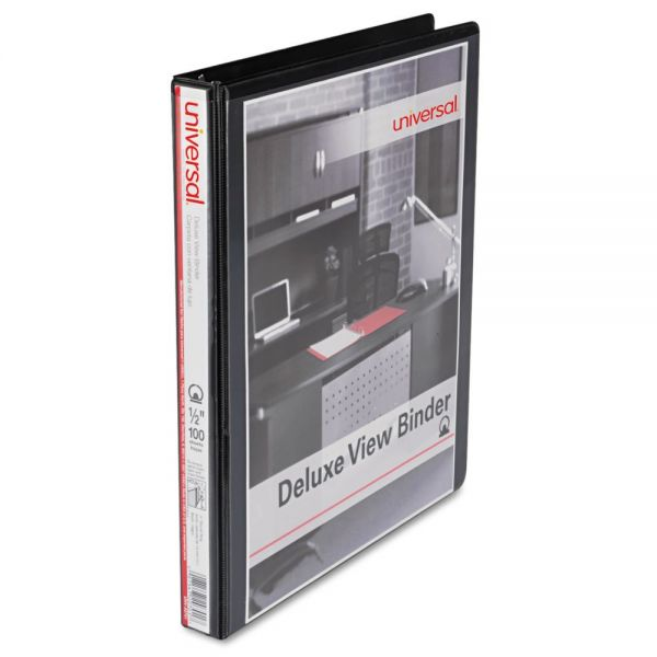 "Universal Deluxe 1/2"" 3-Ring View Binder"