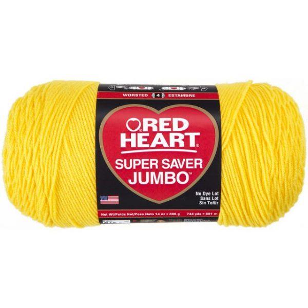 Red Heart Super Saver Yarn - Bright Yellow
