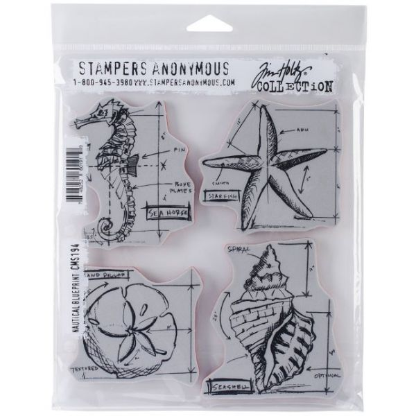 "Tim Holtz Cling Rubber Stamp Set 7""X8.5"""