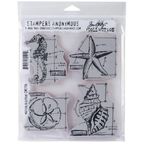 "Tim Holtz Cling Rubber Stamp Set 7""X8.5"""