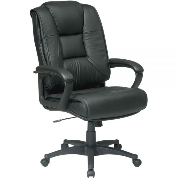 Office Star EX5162-G13 High Back Executive Leather Chair