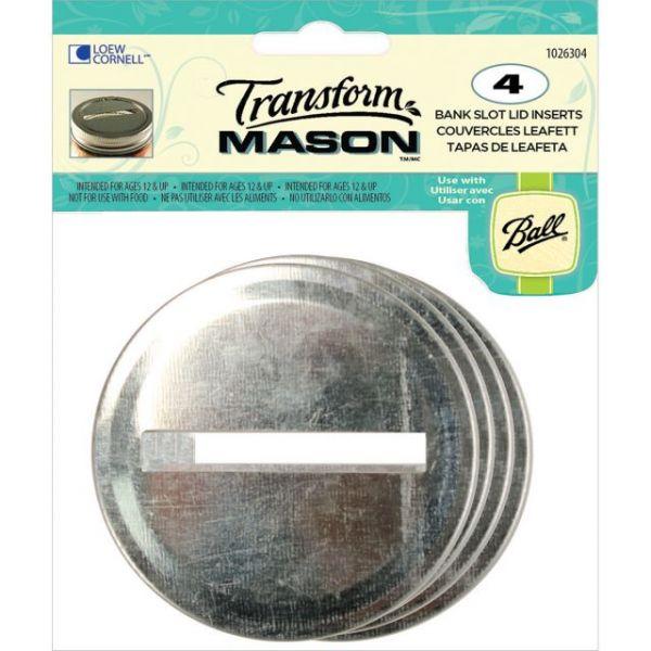 Transform Mason Ball Lid Inserts 4/Pkg