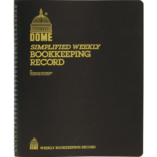 Dome Publishing Simplified Weekly 4 Column Ledger Book