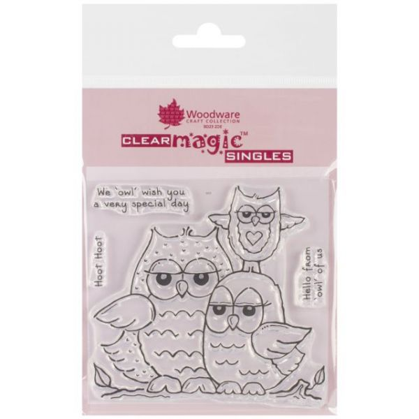 """Woodware Clear Stamps 3.5""""X3.5"""" Sheet"""