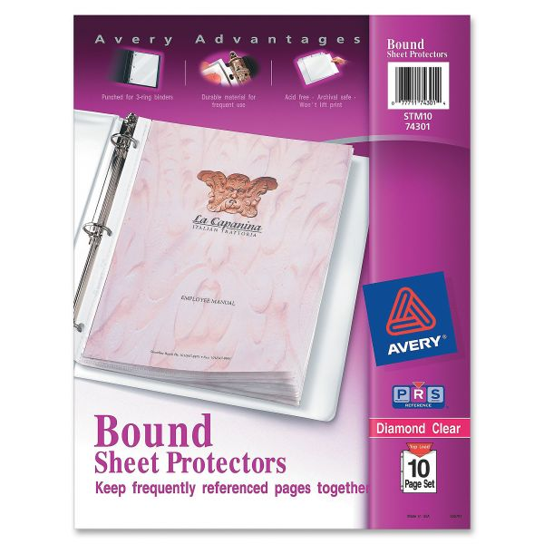 Avery Top Loading Bound Sheet Protector