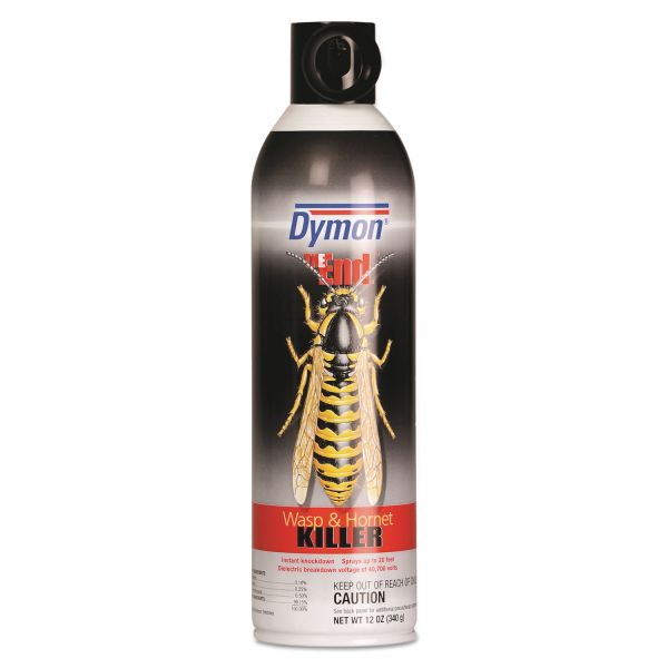 Dymon THE End Wasp & Hornet Killer, 12 oz Can, 12/Carton