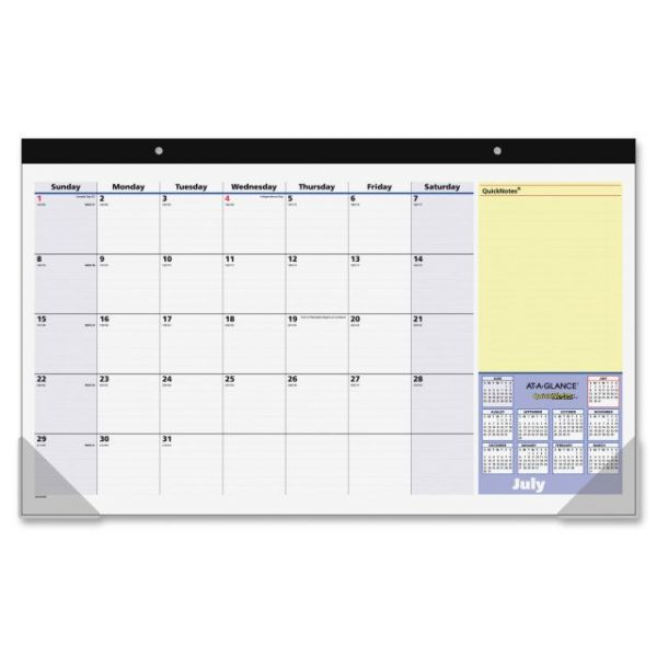 At-A-Glance QuickNotes Compact Academic Monthly Desk Pad Calendar