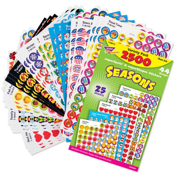 Trend Seasons superSpots & superShapes Stickers Variety Pack