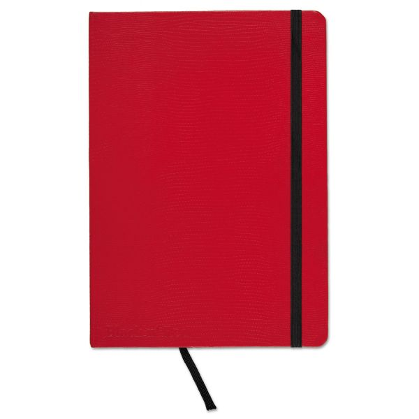 Black n' Red Casebound Hardcover Notebook, Legal Rule, Red Cover, 8 1/4 x 5 3/4, 71 Sheets/Pd