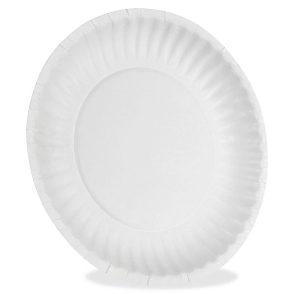 "Dixie White Paper Plates, 6"" dia, 500/Packs, 2 Packs/Carton"