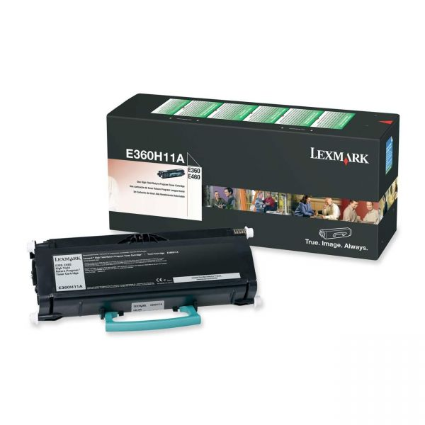 Lexmark E360H11A Black High Yield Return Program Toner Cartridge