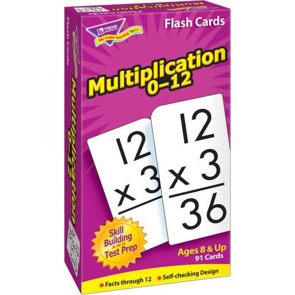 Trend Math Flash Cards - Multiplication 0-12