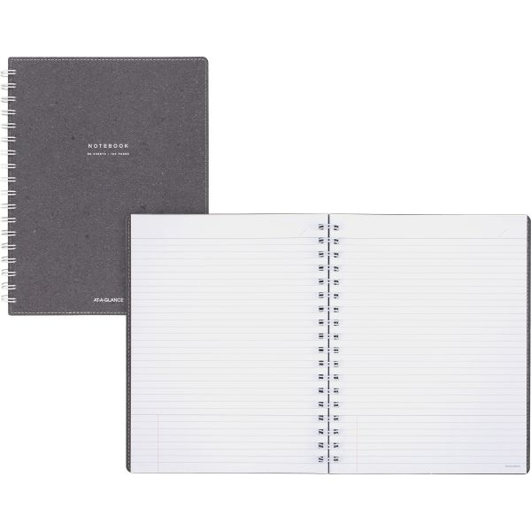 At-A-Glance Collection Gray Twin Wire Notebook