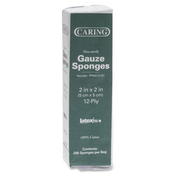 Caring Non-Sterile Gauze Sponges