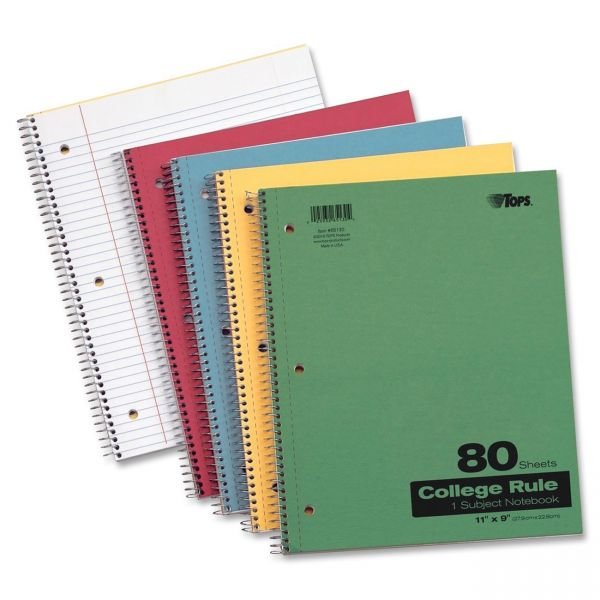 TOPS Kraft College Ruled Notebook