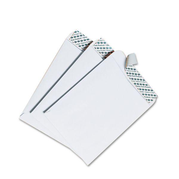 Quality Park Redi Strip Catalog Envelope, #55, 6 x 9, White, 100/Box