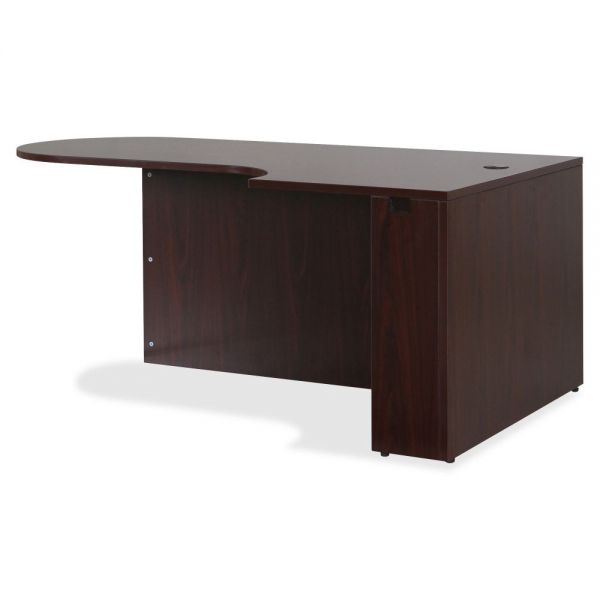 Lorell Essentials Series Mahogany Laminate Desking