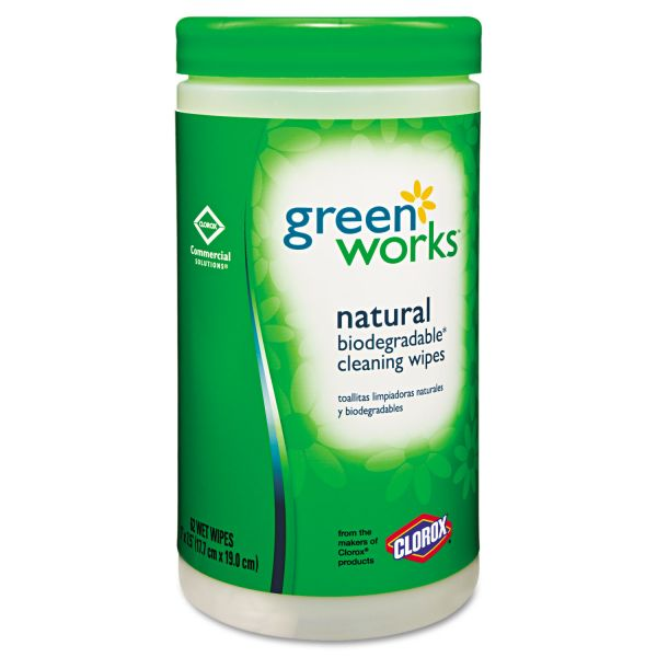 Green Works Natural Biodegradable Cleaning Wipes