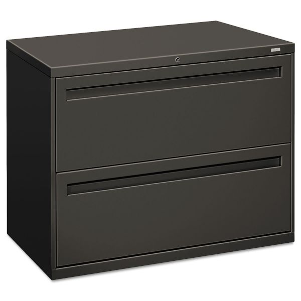 HON 700 Series Two-Drawer Lateral File, 36w x 19-1/4d, Charcoal