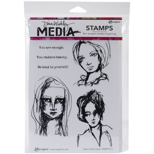 """Dina Wakley Media Cling Stamps 6""""X9"""""""