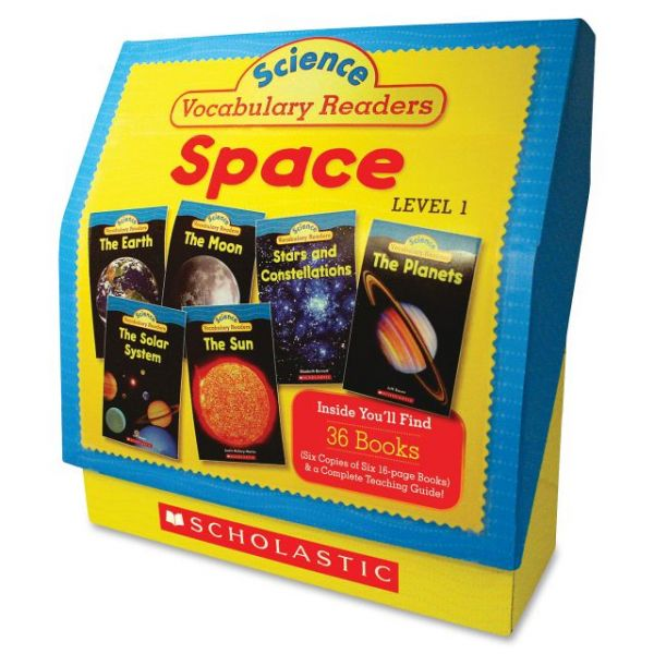 Scholastic Res. Gr 1-2 Vocab. Readers Space Books Education Printed Book for Science by Liza Charlesworth - English