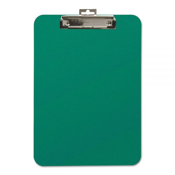 Baumgartens Unbreakable Recycled Green Plastic Clipboard