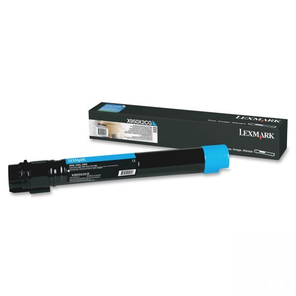 Lexmark X950X2CG Cyan Extra High Yield Toner Cartridge
