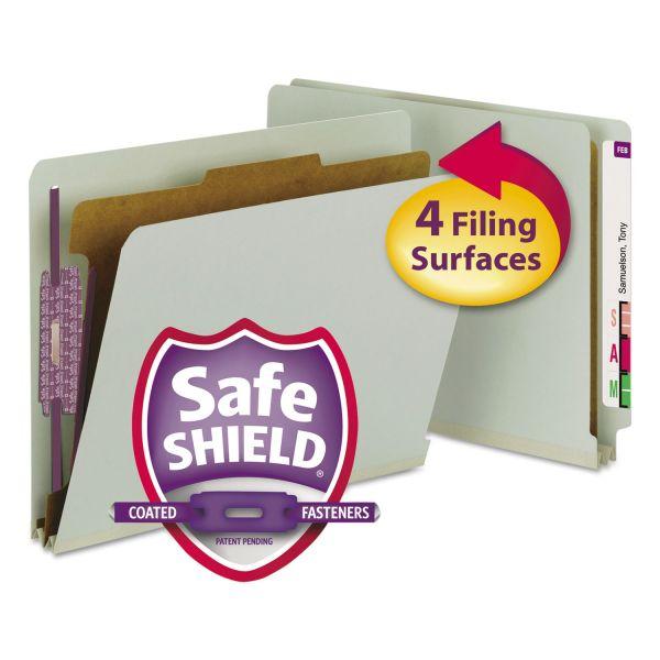 Smead End-Tab Pressboard Classification Folders