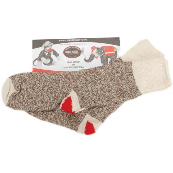 Red Heel Monkey Socks 2 Pairs
