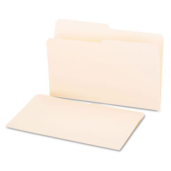 Universal File Folders, 1/2 Cut, One-Ply Top Tab, Legal, Manila, 100/Box
