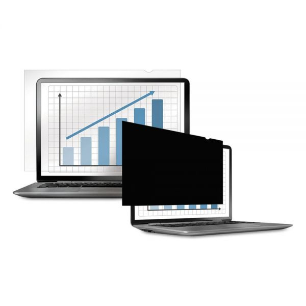 "Fellowes PrivaScreen Blackout Privacy Filter for 12.1"" Widescreen LCD/Notebook, 16:10"