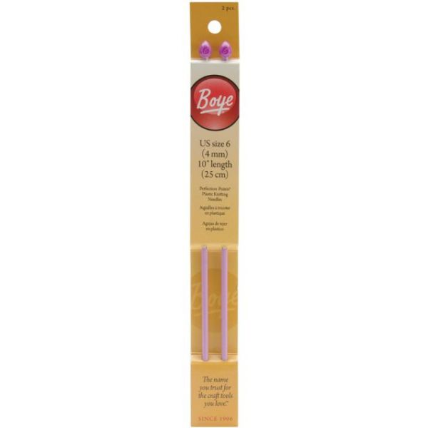 Single Point Plastic Knitting Needles 10""