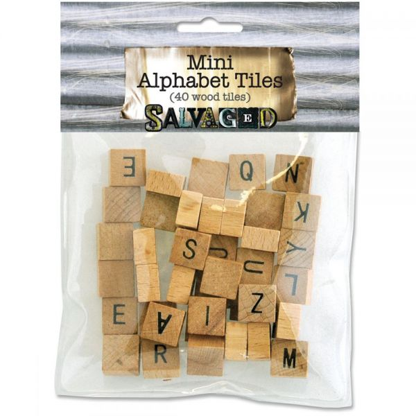 Vintage Collection Wood Alphabet Tiles