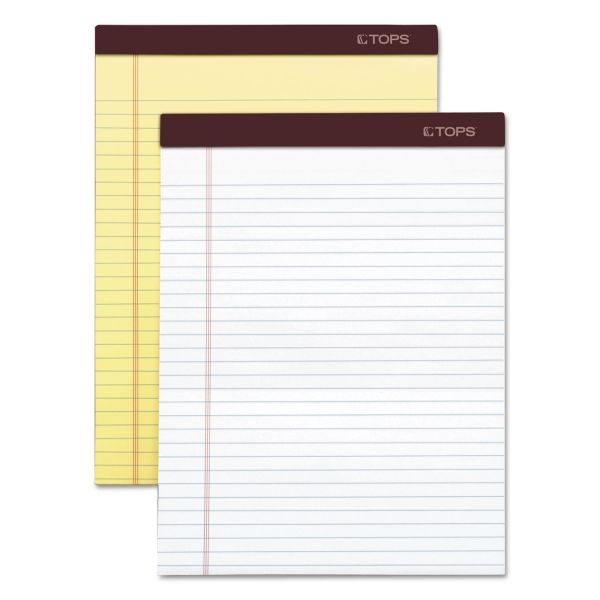 TOPS Docket Gold Letter-Size White Legal Pads