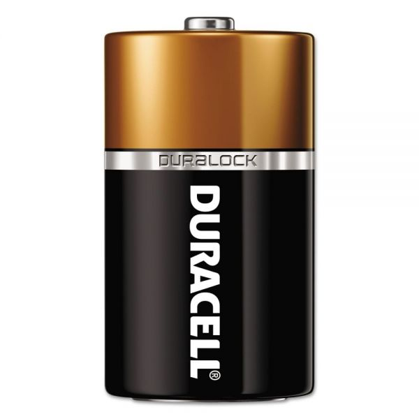 Duracell CopperTop D Batteries with Duralock Power Preserve Technology