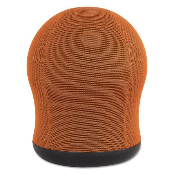 """Safco Zenergy Swivel Ball Chair, 17 1/2"""" Diameter x 23"""" High, Orange Mesh"""