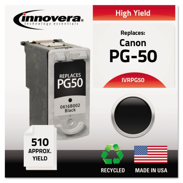 Innovera Remanufactured 0616B002 (PG-50) High-Yield Ink, Black