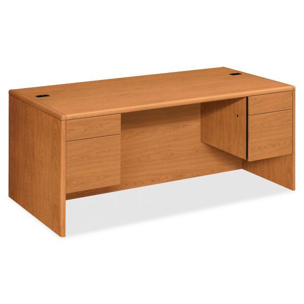 HON 10700 Series Double Pedestal Computer Desk