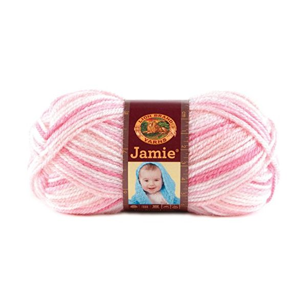 Lion Brand Jamie Yarn - Pink Stripes