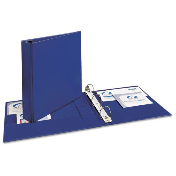 "Avery Durable 3-Ring Binder with Two Booster EZD Rings, 1 1/2"" Capacity, Blue"