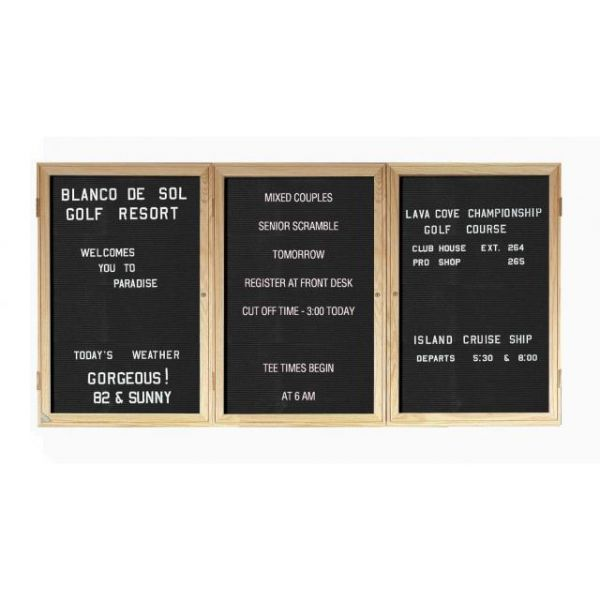 Ghent Enclosed Changeable Letterboards