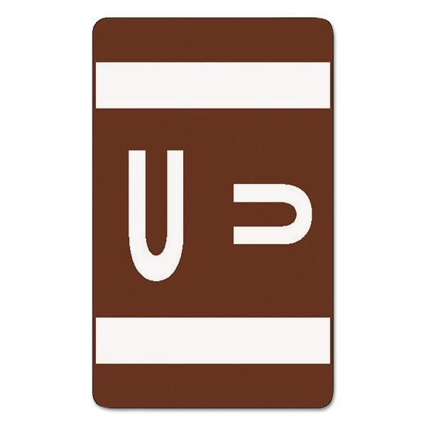 Smead AlphaZ ACCS Color-Coded Alphabetic Label - U