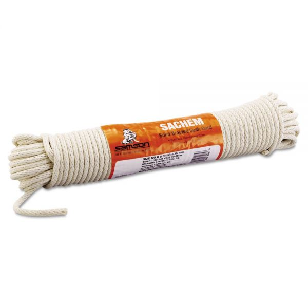"Samson Sash Cord, 1/4"" x 100ft, Cotton, Size Group 8"