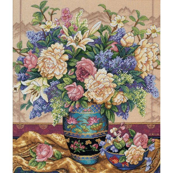Dimensions Gold Collection Oriental Splendor Counted Cross Stitch Kit